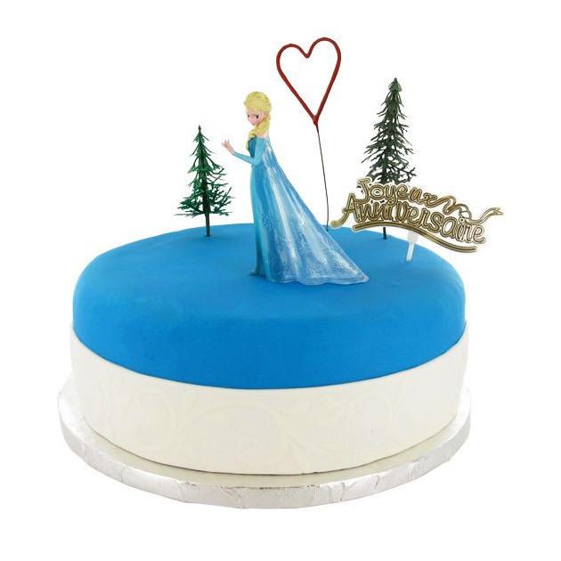Kit Decor Gateau La Reine des Neiges Elsa et Olaf (5 pieces)