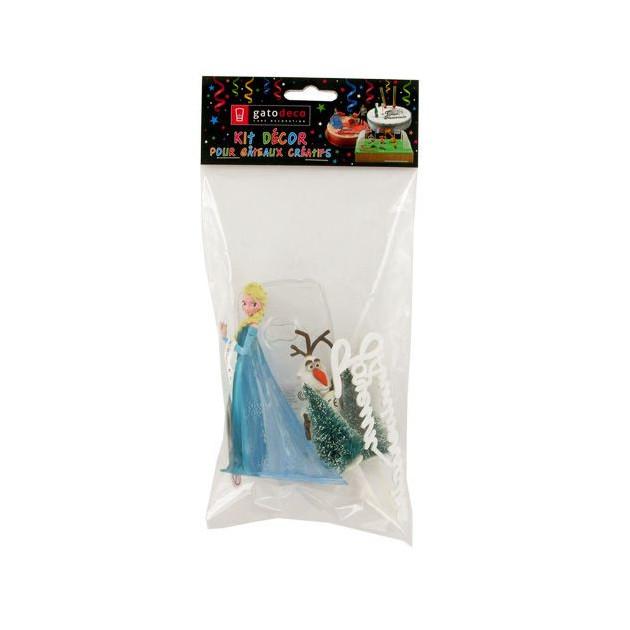 Packaging des Decorations du Kit Decor Gateau La Reine des Neiges