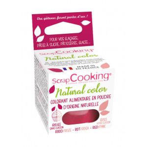 Colorant Alimentaire Naturel en Poudre Rouge 10g Scrapcooking