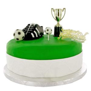 Kit Décor Gâteau Champions de Football (5 pièces)