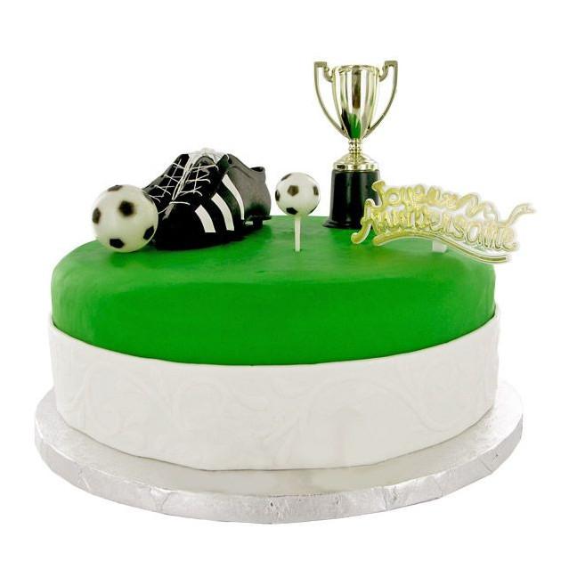 Kit Decor Gateau Champions de Football (5 pieces)