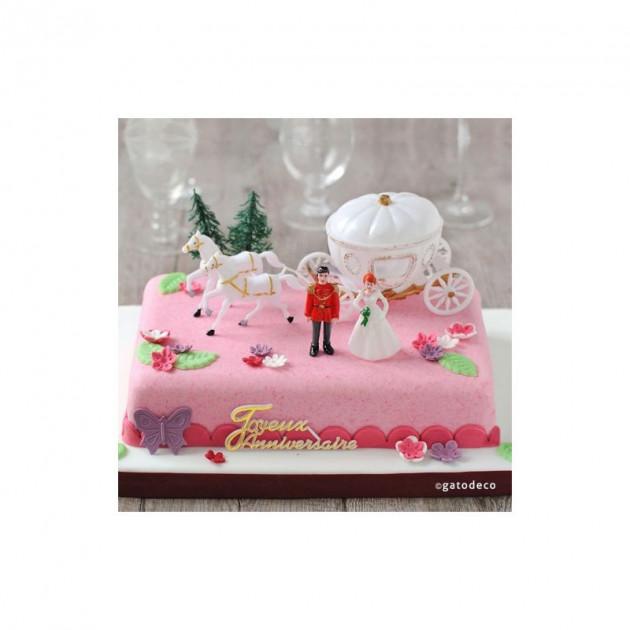 Realisation d'un gateau avec les Decorations pour Gateau d'anniversaire Theme Princesse