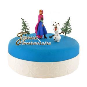 Kit Décor Gâteau La Reine des Neiges Anna et Olaf (5 pièces)