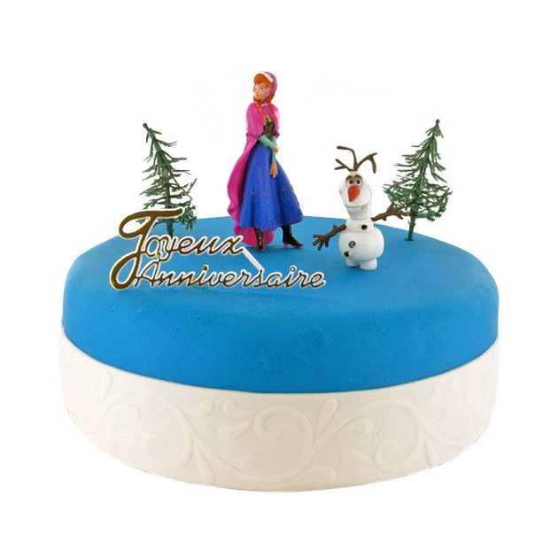 Kit Decor Gateau La Reine des Neiges Anna et Olaf (5 pieces)