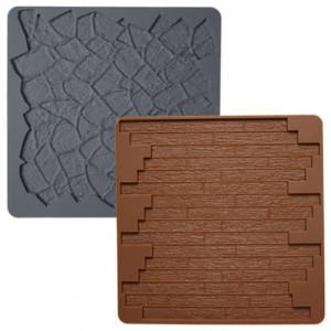 Tapis Silicone texture Pierre et Parquet x2 Wilton