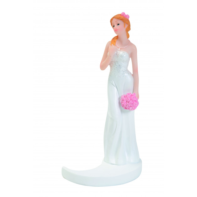 Figurine Mariage Mariée Blonde 15 cm