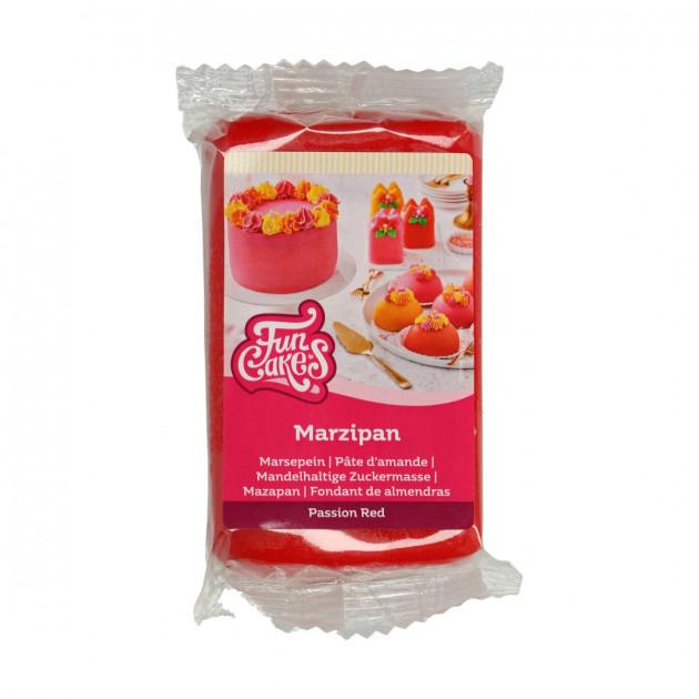 Pâte d'amande Rouge 20% 250g Funcakes