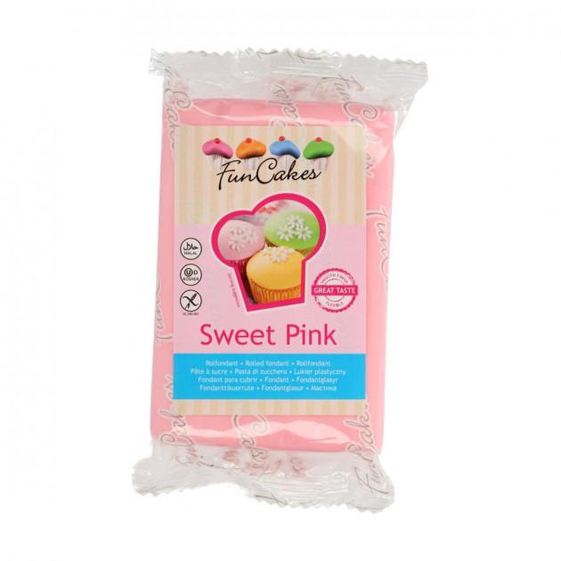 Pâte à sucre Rose Clair 250g Funcakes