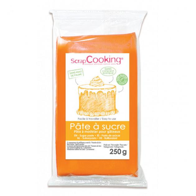 Pâte à Sucre Orange Pastel 250 g ScrapCooking