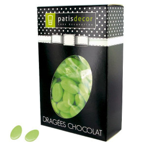 Dragées Chocolat Vert Tilleul 500 g Patisdécor