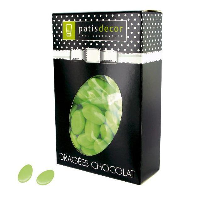 Dragees Chocolat Vert Tilleul 500 g Patisdecor