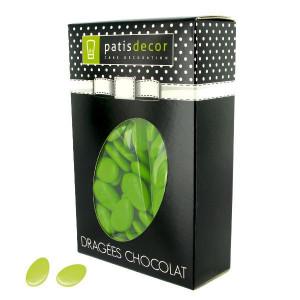 Dragées Chocolat Vert Anis 500 g Patisdécor