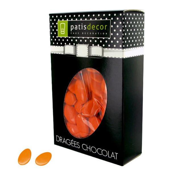FIN DE SERIE Dragees Chocolat Orange 500 g Patisdecor