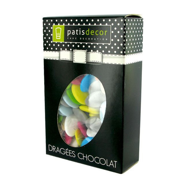 Dragees Multicolores Chocolat 500 g Patisdecor
