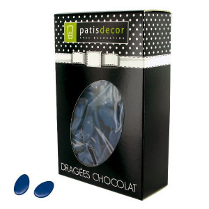 Dragées Chocolat Bleu Marine 500 g Patisdécor