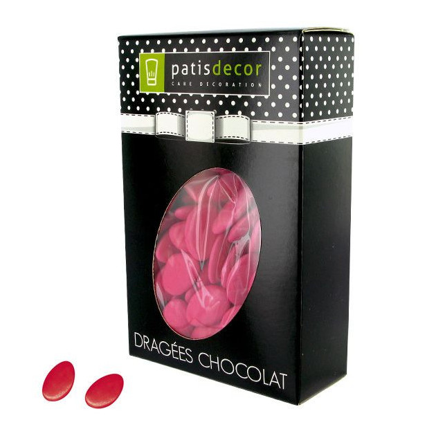 Dragees Chocolat Framboise 500 g Patisdecor