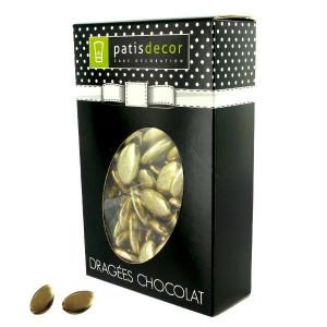 Dragées Chocolat Coloris Doré 500 g Patisdécor
