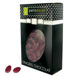 Dragées Chocolat Bordeaux 500 g Patisdécor