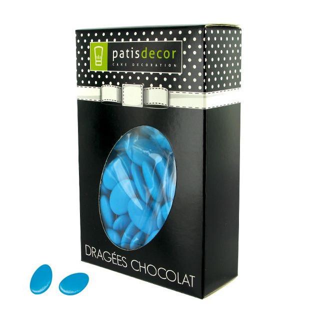 Dragees Chocolat Bleu Turquoise 500 g Patisdecor