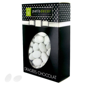Dragées Chocolat Coloris Blanc 500 g Patisdécor
