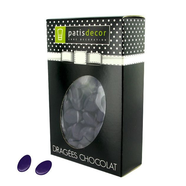 Dragees Chocolat Aubergine 500 g Patisdecor
