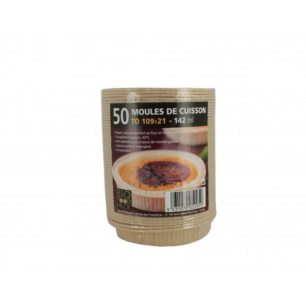 Moule de cuisson papier 109 mm - 142 ml Bio Food Pack