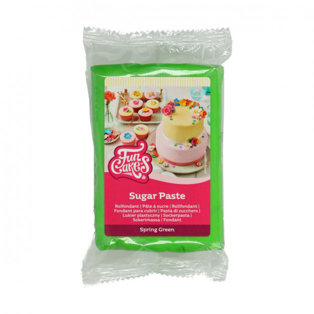 Pâte à Sucre Vert Printemps 250g Funcakes