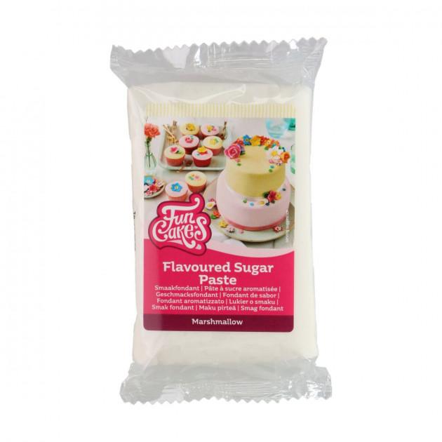 Pâte à Sucre Blanche Chamallow 250g Funcakes