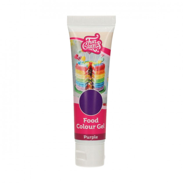 Colorant gel alimentaire Violet FunCakes 30 g