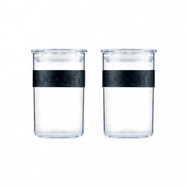Bocal Plastique 600 ml avec Couvercle (x2) PRESSO Bodum