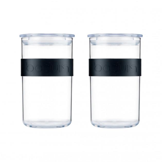Bocal Plastique 1 L avec Couvercle (x2) PRESSO Bodum