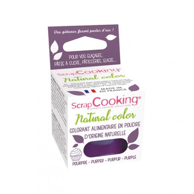 Colorant Alimentaire Naturel en Poudre Violet 10g Scrapcooking
