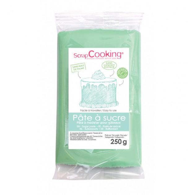 Pate a Sucre Vert d'eau 250 g ScrapCooking