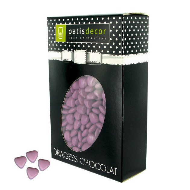 Dragees Chocolat Mini-Coeurs Lilas 500 g Patisdecor