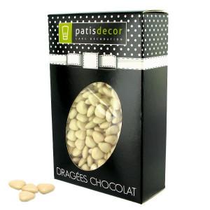 Dragées Chocolat Mini-Coeurs Ivoire 500 g Patisdécor