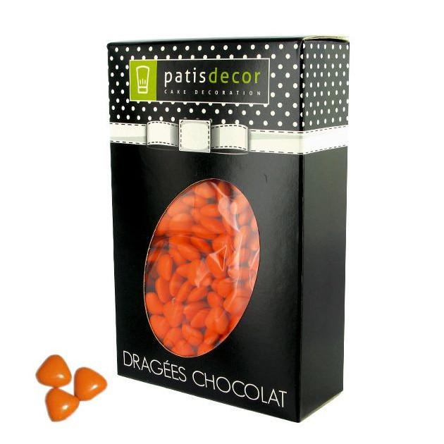 Dragees Chocolat Mini-Coeurs Orange 500 g Patisdecor