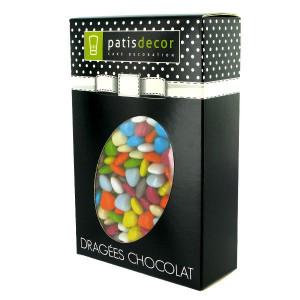 Dragées Chocolat Mini-Coeurs Multicolores 500 g Patisdécor