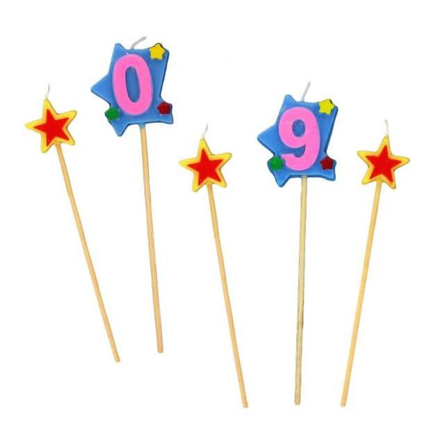 Bougie d'anniversaire Chiffre - Disponible de 0 a 9
