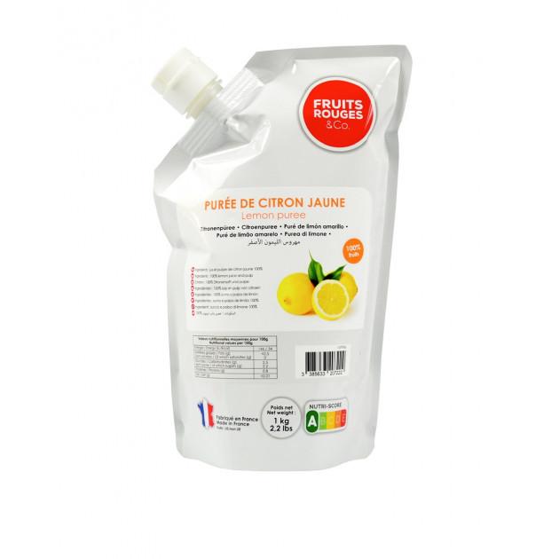 Puree de Citron Jaune 1kg Fruits Rouges & Co