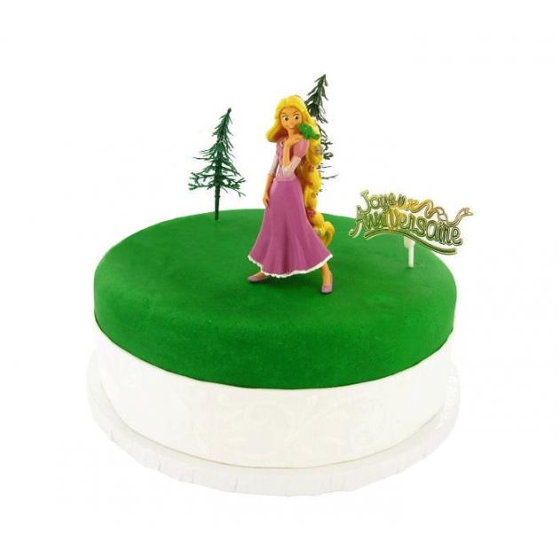 Kit Decor Gateau Princesse Raiponce (5 pieces)
