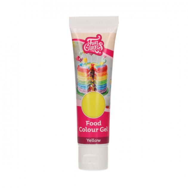 Colorant gel alimentaire Jaune FunCakes 30 g