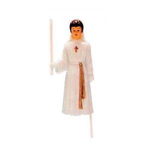 Sujet Communion Fille sur tige 11,5 cm