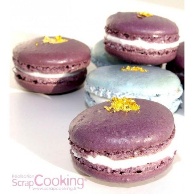 Macarons realises avec du Colorant en Poudre Scrapcooking