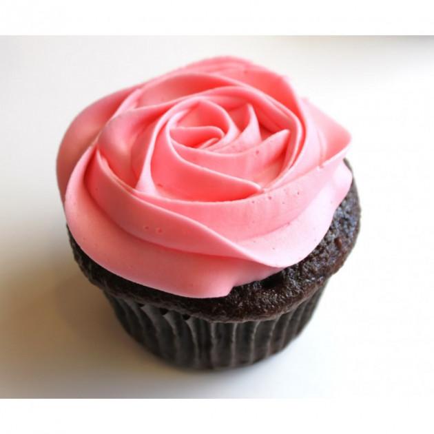Cupcake realise avec le Colorant Rose en Poudre Scrapcooking