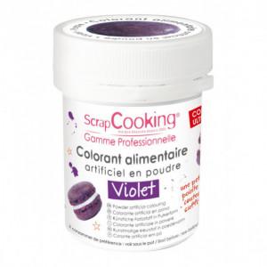 Colorant Alimentaire en Poudre Violet 5g Scrapcooking
