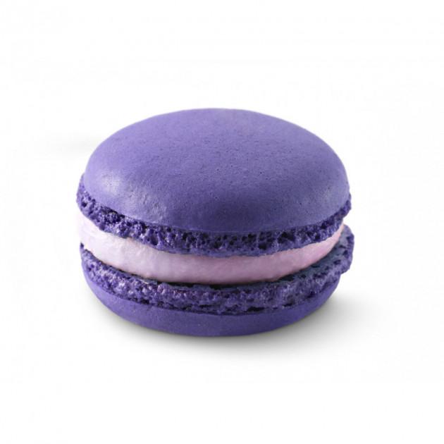 Macaron realise avec le colorant alimentaire en poudre Violet Scrapcooking