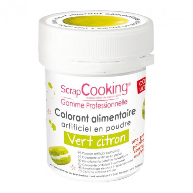 Colorant Alimentaire en Poudre Vert Clair 5g Scrapcooking