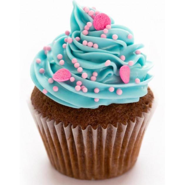 Cupcake realise avec du Colorant Bleu en Poudre Scrapcooking