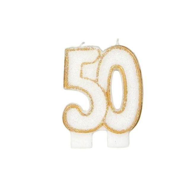 Bougie Anniversaire 50 ans Gatodeco