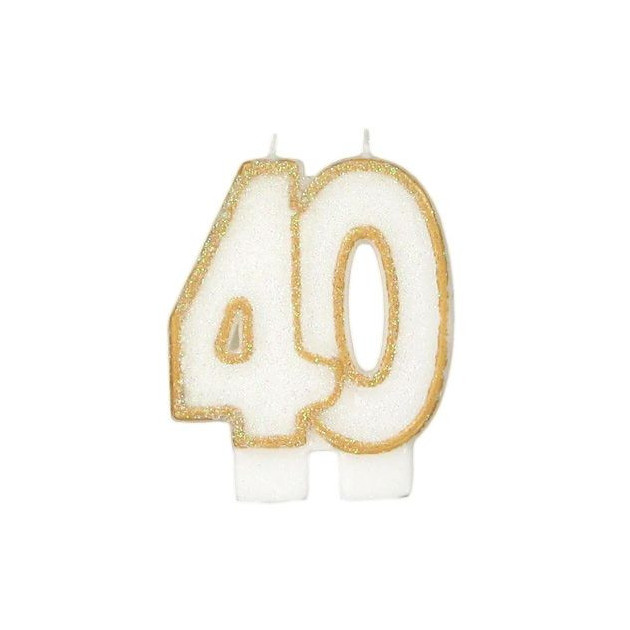 Bougie Anniversaire 40 ans Gatodeco